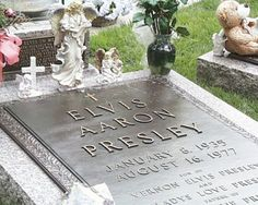 Elvis Presley is buried in Graceland TN and is a part of the tour, visited by 600,000 people a year.