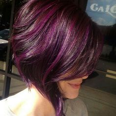 Still crushing on this one... by @makeupbyfrances using @wellahair #purplehair #behindthechair