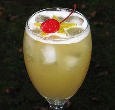 Leg Spreader 2 oz. Captain Morgan Spiced Rum 2 oz. Peach Schnapps 2 oz. Malibu Coconut Rum 4 oz. Pineapple Juice by diana
