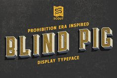 Blind Pig Display Font by Scout Studio on @creativemarket