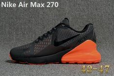 hot sale online 727d8 9c0c4 Authentic Nike Air Max 270 KPU Latest Styles Running Shoes Sneakers 2018  Black Orange For Sale