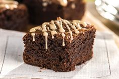 How easy is it to make these mocha brownies? Well, you start with a mix and add instant coffee. (There's more, but you get the idea!)