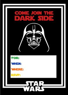Star Wars Party Invitation Free Printable | birthday ideas for boys