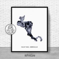 Central America Map Wall Art Print, Central America Art, Travel Map, Travel Decor, Office Decor, Office Wall Art #OfficeWallArt #MapWallArtPrint #OfficeDecor #TravelDecor #TravelMap
