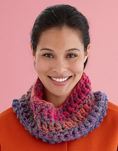 Make it in just one evening! This 1-ball cowl is quick and satisfying. (Lion Brand Yarn)