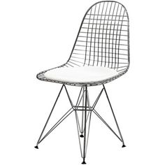 Wire Tower White Vinyl CushionSide Chair | Overstock.com