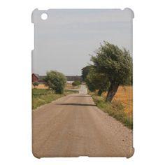 Country road iPad mini case, glossy finish.