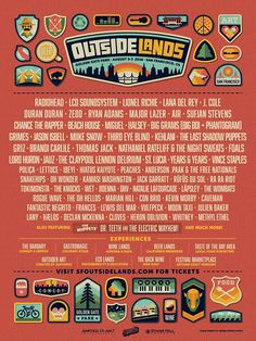 Radiohead will headline San Francisco's Outside Lands Festival alongside the recently reunited LCD Soundsystem and Lionel Richie. Sidebar Outside Lands Radiohead, Festival Posters, Concert Posters, Music Posters, Outside Lands Festival, Fantasy Football App, Lana Del Rey News, Third Eye Blind, The Last Shadow Puppets