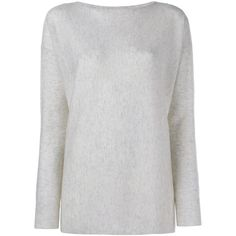 Vince Boat Neck Cashmere Knit (475 AUD) ❤ liked on Polyvore featuring tops, sweaters, grey, grey sweater, boatneck top, slash neck top, gray sweater and vince tops