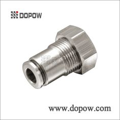 CAPCF Female Straight Full Nickel Plated Brass Pneumatic Fittings