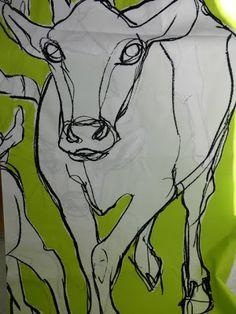 "Ammuu ""Kevätjuhla"" Desined by Miina Äkkijyrkkä, Marimekko Cow Print Fabric, 21st Century Artists, Marimekko, Cows, Finland, Cool Art, Craft Projects, Fabrics, Patterns"
