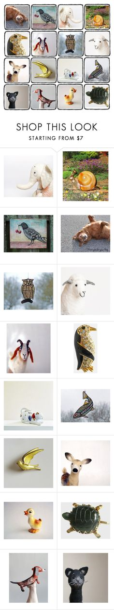 """""""Animals Love Love"""" by throwitforward ❤ liked on Polyvore featuring interior, interiors, interior design, home, home decor, interior decorating, Krementz and vintage"""
