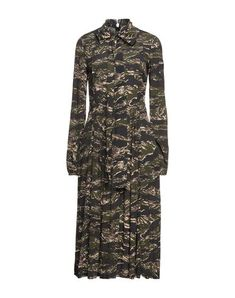 Camouflage, Robes Midi, N21, Military Green, Sportswear, High Neck Dress, Dresses, Women, Products