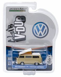 1970 VOLKSWAGEN TYPE 2 WESTFALIA CAMPMOBILE (Savannah Beige) * Club V-Dub * Series 2 Greenlight Collectibles 2015 Limited Edition Vee-Dub 1:64 Scale Die-Cast Vehicle