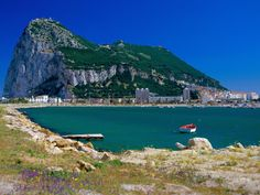 Gibraltar,colony of the United Kingdom, at the southern tip of Spain.