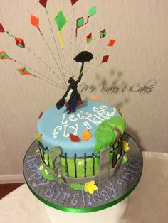 Mary Poppins 'Let's Go Fly a Kite' Cake
