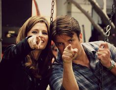 Nathan Fillion and Stana Katic - Castle