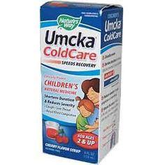Nature's Way, Umcka ColdCare, Children's Natural Medicine, Cherry Flavor Syrup, 4 fl oz (120 ml)  гомеопатическое противопростудное, для детей.