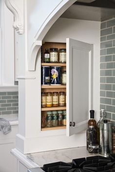 Spice Rack - Design photos, ideas and inspiration. Amazing gallery of interior design and decorating ideas of Spice Rack in kitchens by elite interior designers. Messy Kitchen, Kitchen And Bath, New Kitchen, Kitchen Decor, Kitchen Ideas, Spice Storage, Kitchen Storage, Spice Racks, Pantry Storage