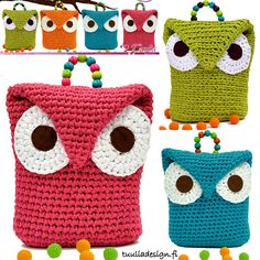 CROCHET - Funny owls crochet amigurumi
