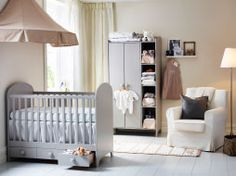 Welcome your new arrival in a natural colored nursery - IKEA