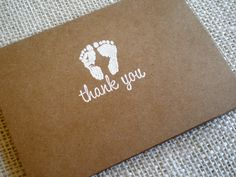 Kraft Baby Thank You Cards