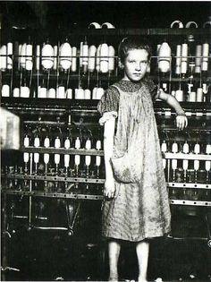 Lewis Hine. Girl Worker in a Carolina Cotton Mill, 1908