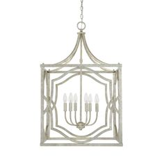 Capital Lighting 9483AS - Blakely 6 Light Foyer Fixture, Antique Silver