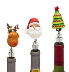 "Barware, Happy Holly Days,Bobblehead Wine Stopper,Metal and Polystone,1.18x0.79x2.17 Inches,Assorted 3 by Cypress Home. $44.88. Packaged in a gift box. Assorted 3. The size is: 1.18""x0.79""x2.17"". Hand wash only. Metal and Polystone. Don't let your good wines go bad! Save them for later with this stunning winestopper, that is sure to turn heads."