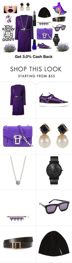 """Belted dress"" by jamuna-kaalla ❤ liked on Polyvore featuring Yves Saint Laurent, Versace, Proenza Schouler, Loren Stewart, Carolina Bucci, South Lane, Tommaso Lonardo, Karen Walker, Frame and Mover"