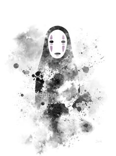 No Face Spirited Away ART PRINT illustration Studio by SubjectArt