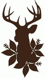 Silhouette Design Store - View Design #72673: stag florals