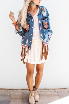constantlyk.com karin kaswurm in her boho chic jeans jacket ibiza fashion, style