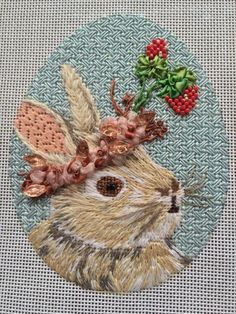 Vicki Sawyer rabbit needlepoint