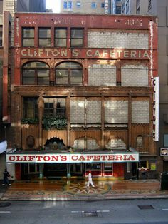 clifton's cafeteria -- the food is fine but the kitsch is even finer  used to work at a different location while putting myself thru college