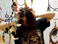 Serotonin Fox  Dreamcatcher   magic feathers