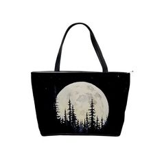 Take a walk in the moonlight and twirl through the forest with this lovely bag!. Under the Forested Moon Shoulder Bag Classic Shoulder Handbag. Handbags should not only be regarded as a piece of accessory to take your things with you, but more like as an extension to your arm which you can feel comfortable with whatever the occasion maybe. Now you can do just that with our designed shoulder bag. Hand-crafted and designs printed right up to the edge using a heat dye sublimation technique to…