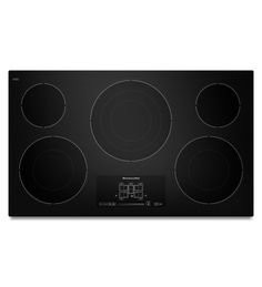 KitchenAid® 36-Inch, 5-Element Electric Cooktop with Even-Heat™ Technology and Touch-Activated Controls