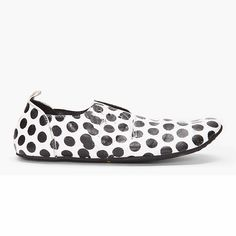 Polka Dot Leather Flats - MARSÈLL