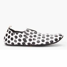 Polka Dot Leather Flats - MARSÈLL