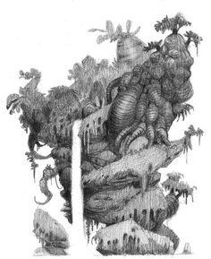 Les Croods - Nicolas Weis, visual development artist - Page 4 sur 6 - Environment Sketch, Environment Design, Tree Sketches, Cartoon Sketches, Fantasy Forest, Fantasy Art, Dreamworks, Tree Coloring Page, Texture Drawing