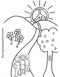 peace on earth Colouring Pages, Printable Coloring Pages, Coloring Sheets, Coloring Books, Images And Words, Peace On Earth, Autumn Activities, Sunday School, Peace And Love
