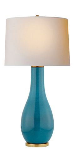 "Orson Balustrade Form Table Lamp Visual Comfort 32.5"" high   Also in Navy, orange, green, taupe"
