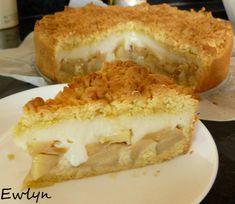 Ewlyn Bakes: Szarlotka z budyniem. Apple pie with custard. Custard, Apple Pie, Sandwiches, Pudding, Cookies, Baking, Cake, Food, Recipes