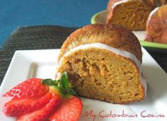 I love this recipe! Carrot Cake has lots of flavour and is also very nutritious, perfect for sharing with the entire family. Torta de Zanahoria or Fall Recipes, Healthy Recipes, Healthy Food, Colombian Food, Comida Latina, No Bake Desserts, Banana Bread, Sweet Tooth, Bakery