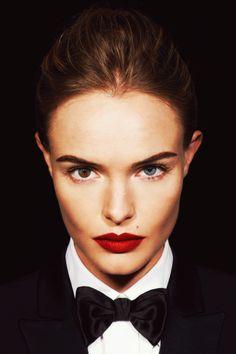 red lip / bold brow #makeup
