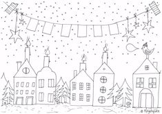 DIY and Crafts- Coloring page / Coloring page Waiting for Christmas / coloring sheet ringelspatz. Decoration Christmas, Christmas Colors, Kids Christmas, Christmas Crafts, Pumpkin Coloring Pages, Colouring Pages, Coloring Pages For Kids, Harry Potter Coloring Pages, Christmas Coloring Sheets