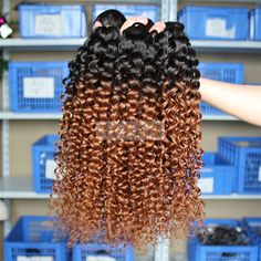 Wholesale 6A Peruvian Virgin Human Hair Kinky Curly 1B/30 Ombre Hair Extensions Top Quality Human Hair Bundles – Wholesale Hair Weave Factory