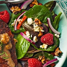 Forget dessert—we can't wait for this course, thanks to the sweet vanilla and raspberry notes in this dish. #salad #recipe