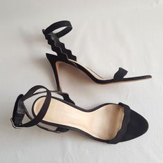 d7a08ebf4 Loeffler Randall Ameila High Wavy Suede Ankle Strap Heels size. 10.5